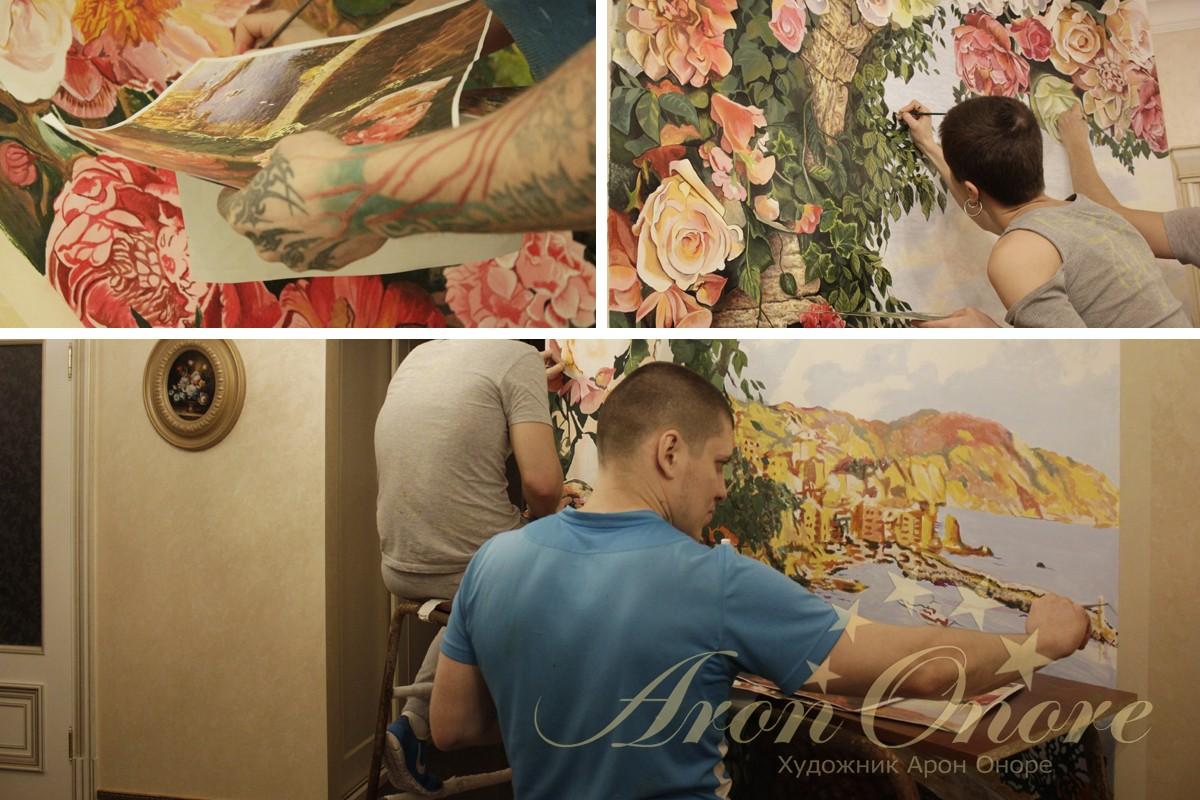 Арон Оноре рисует живопись
