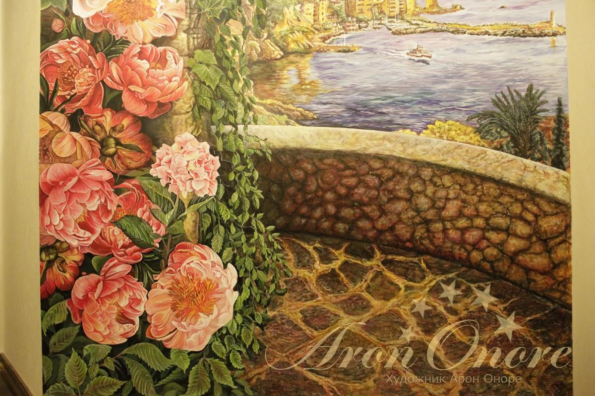 Крупным планом живопись цветы