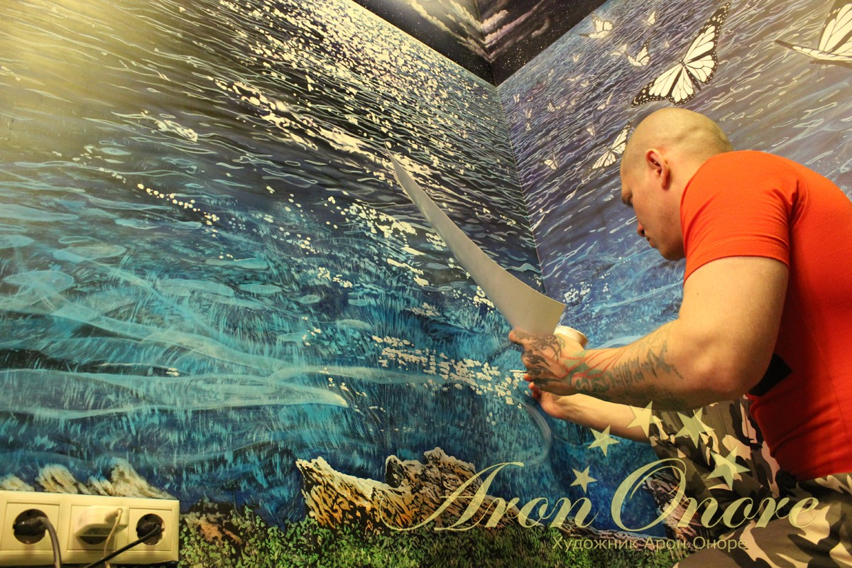 Арон Оноре рисует море
