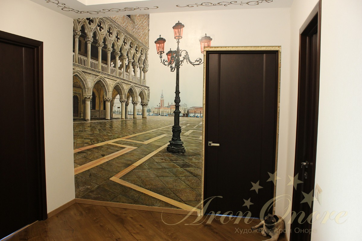 Венеция площадь Сан Марко рисунок