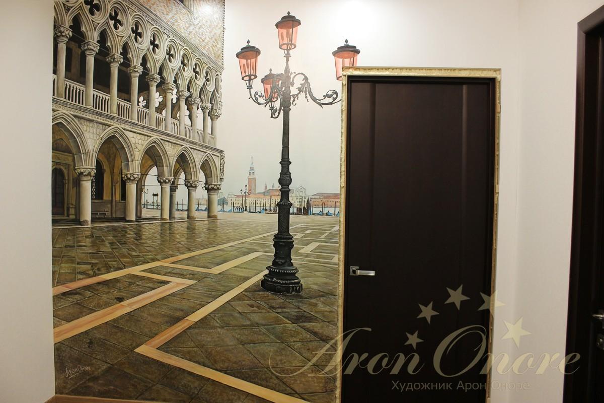 Роспись в интерьере Венеция