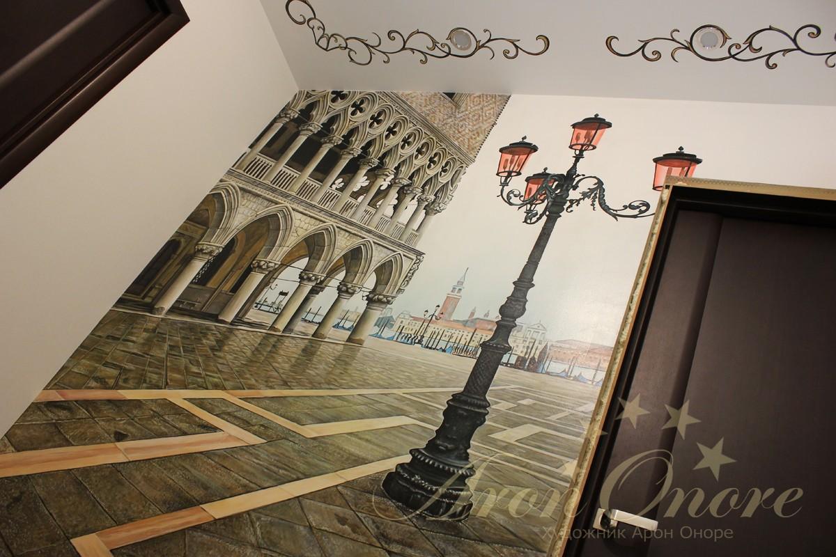 Рисунок на стене Венеция площадь