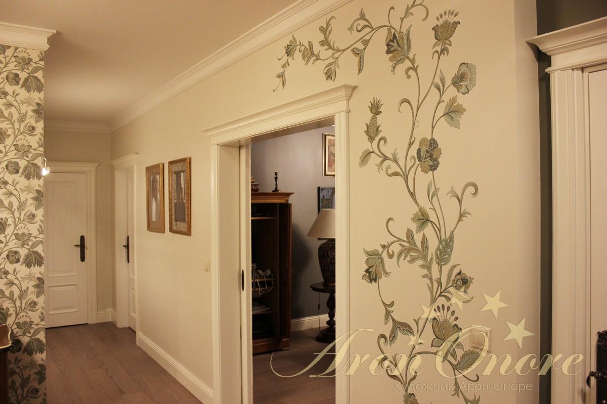 Художественная роспись в квартире орнамент