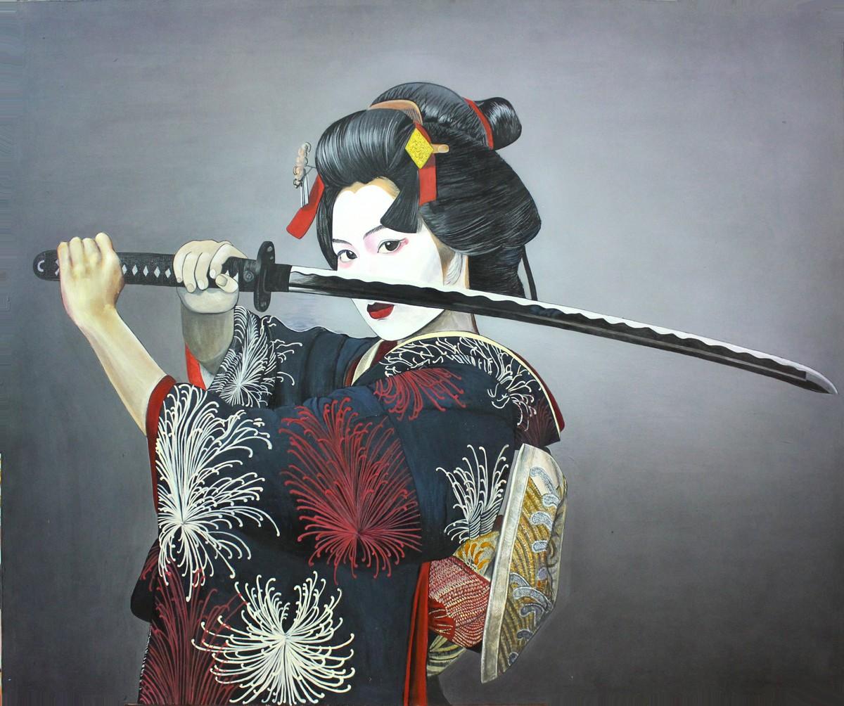 гейша с мечом картина