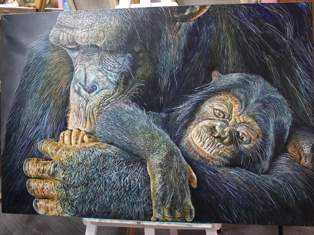 картина горилы