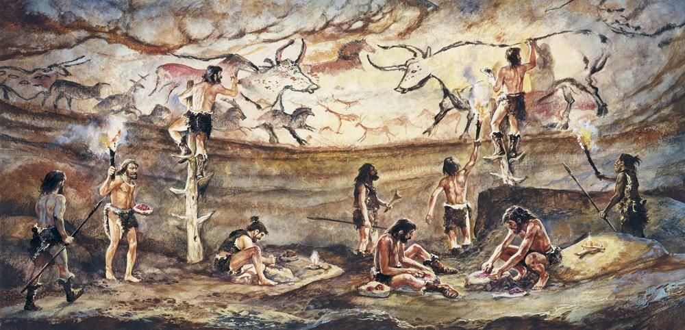 Роспись пещеры древние люди