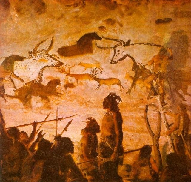 древние рисунки на стене