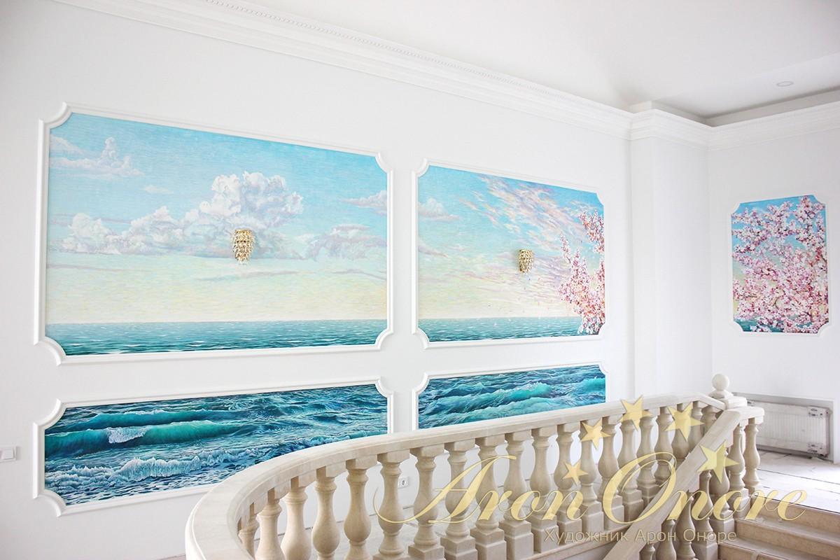Триптих живопись на стене