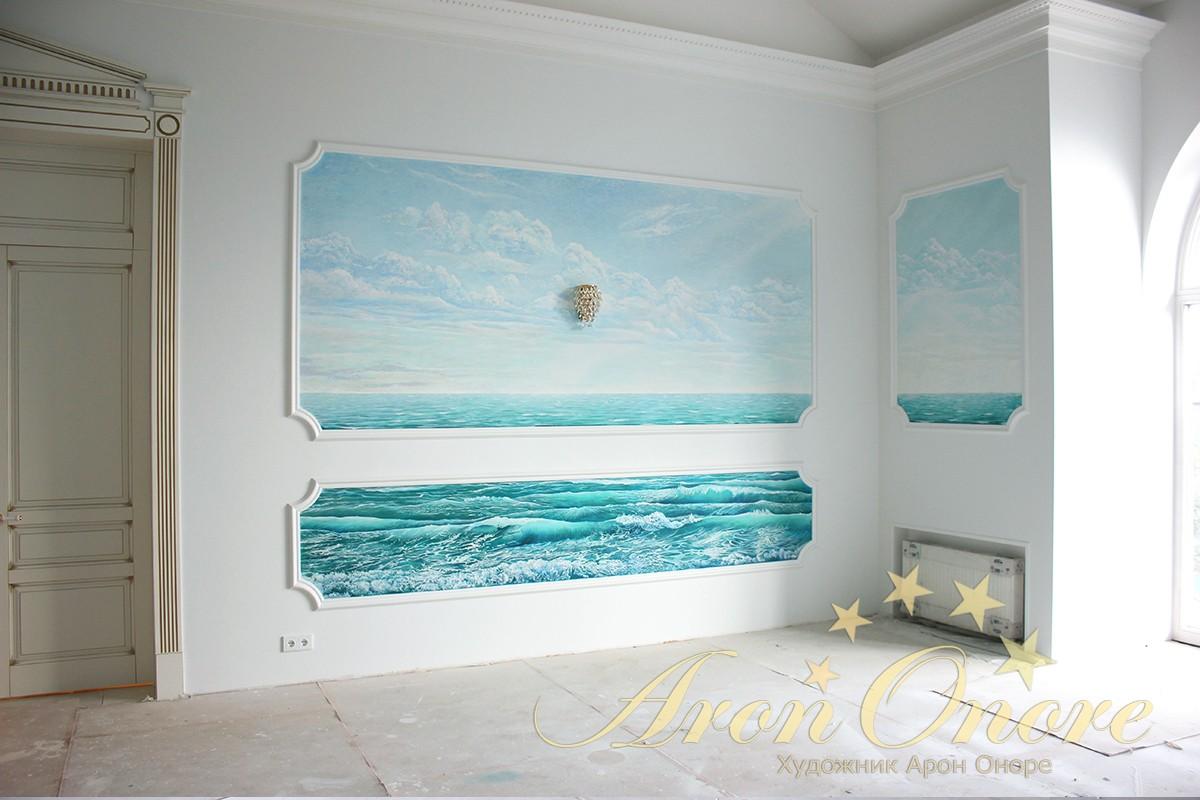 Морской пейзаж на стене