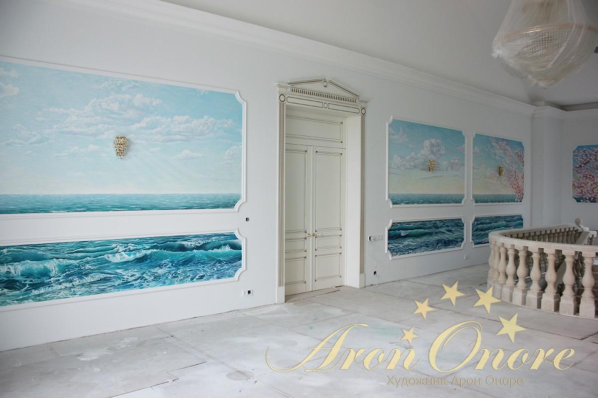 Интерьерная роспись, художник Арон Оноре