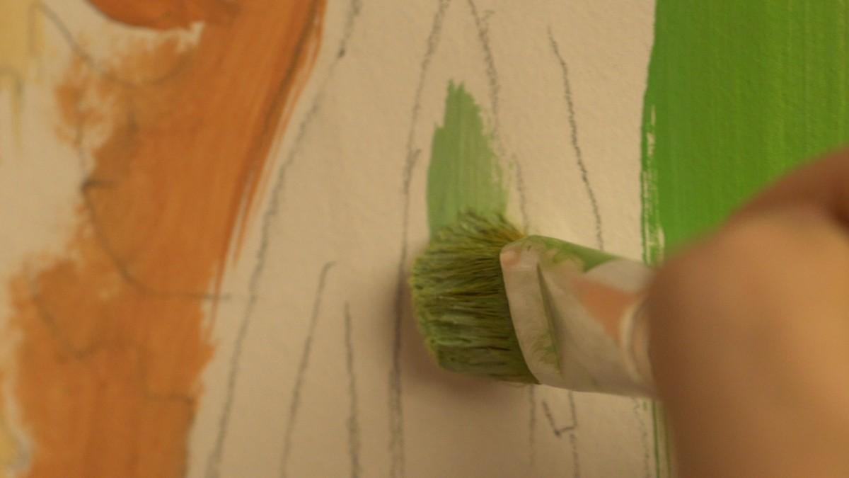 Мастер-класс по росписи стен 6