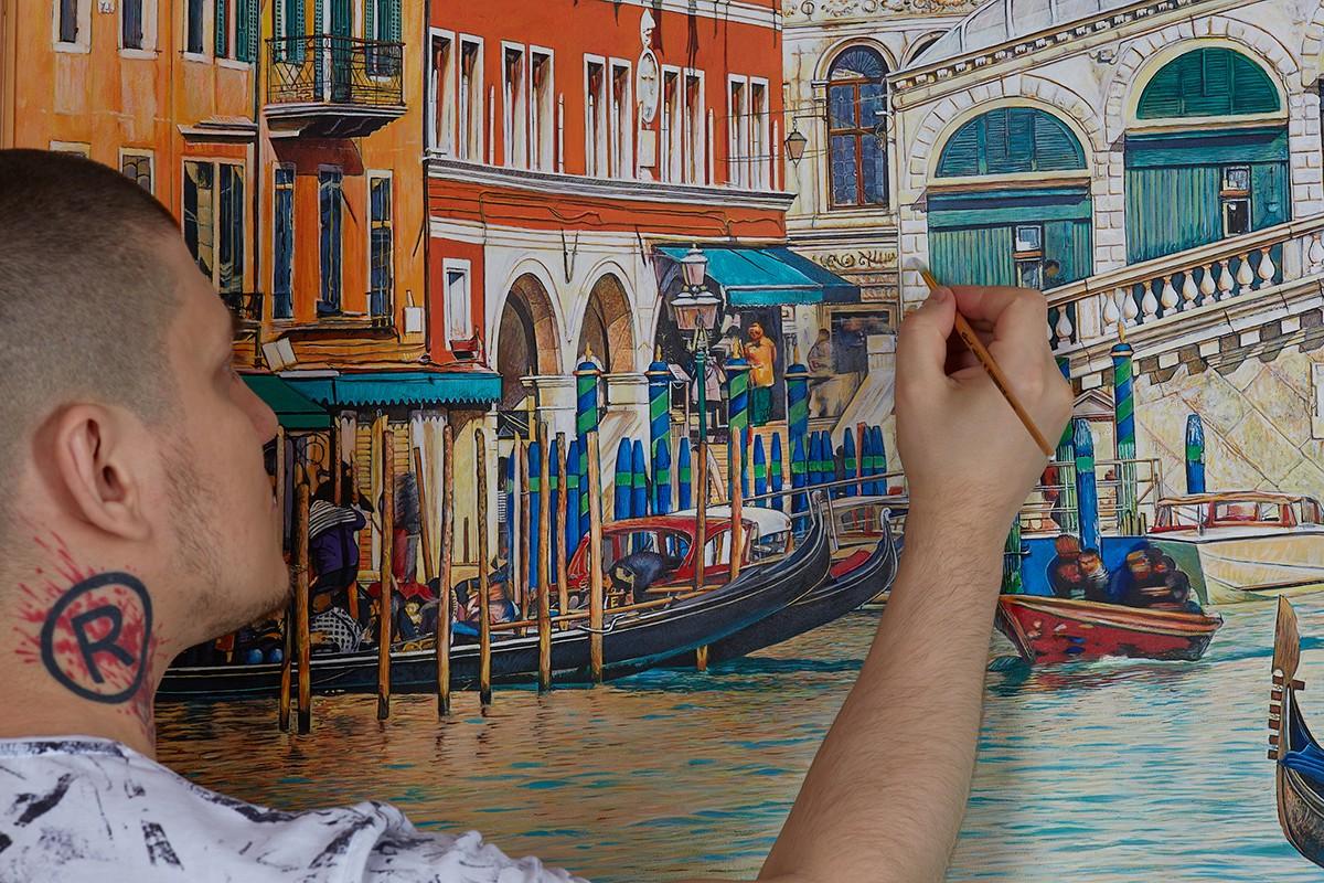 Как научиться рисовать, показывает Арон Оноре.