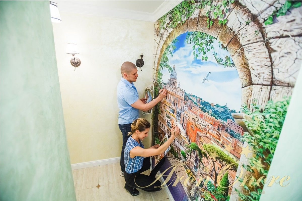 Рисуем роспись Рим