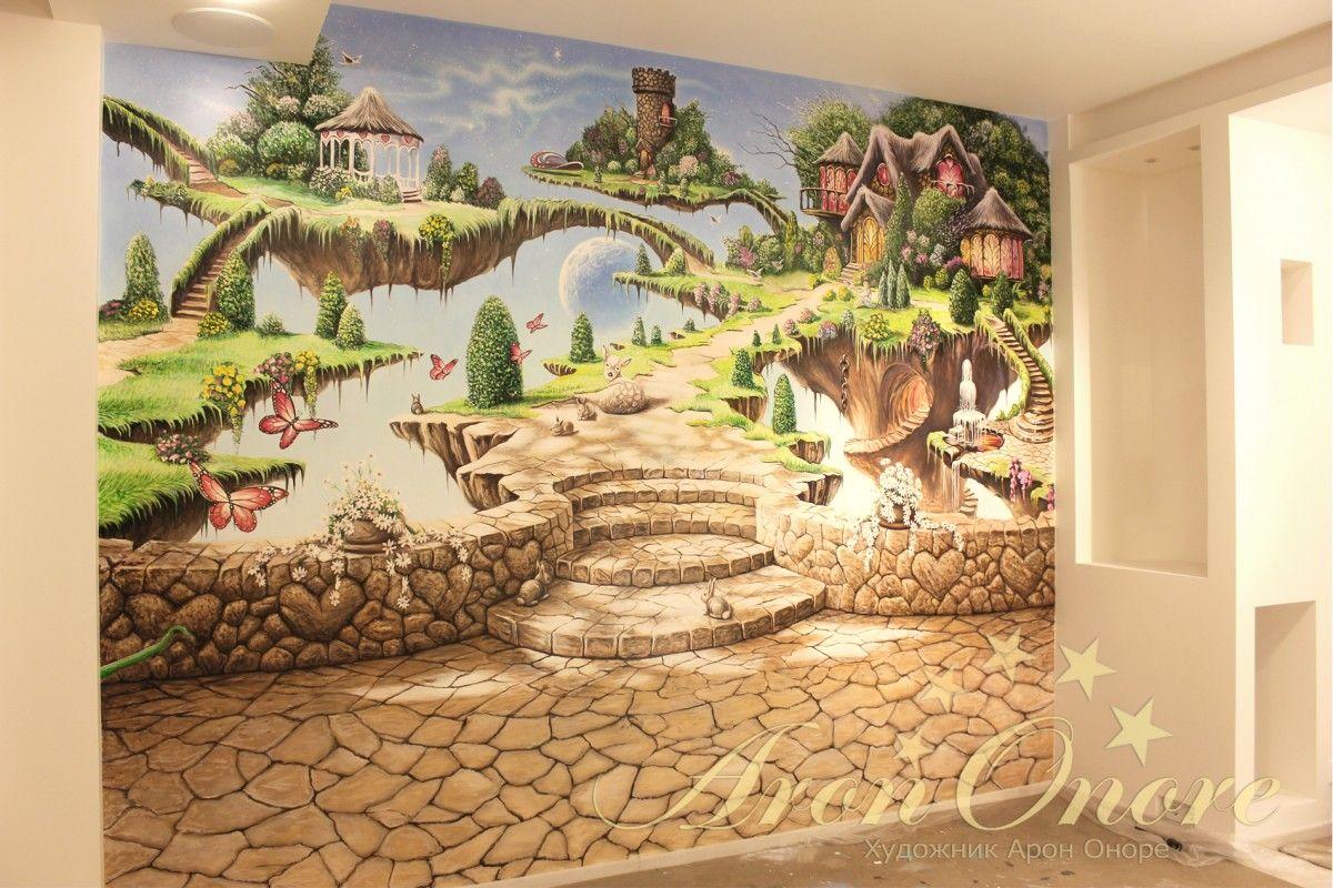 Роспись стены в детской, выполнено студией Арона Оноре