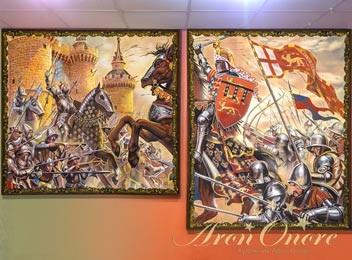 Картина сражение рыцарь на коне