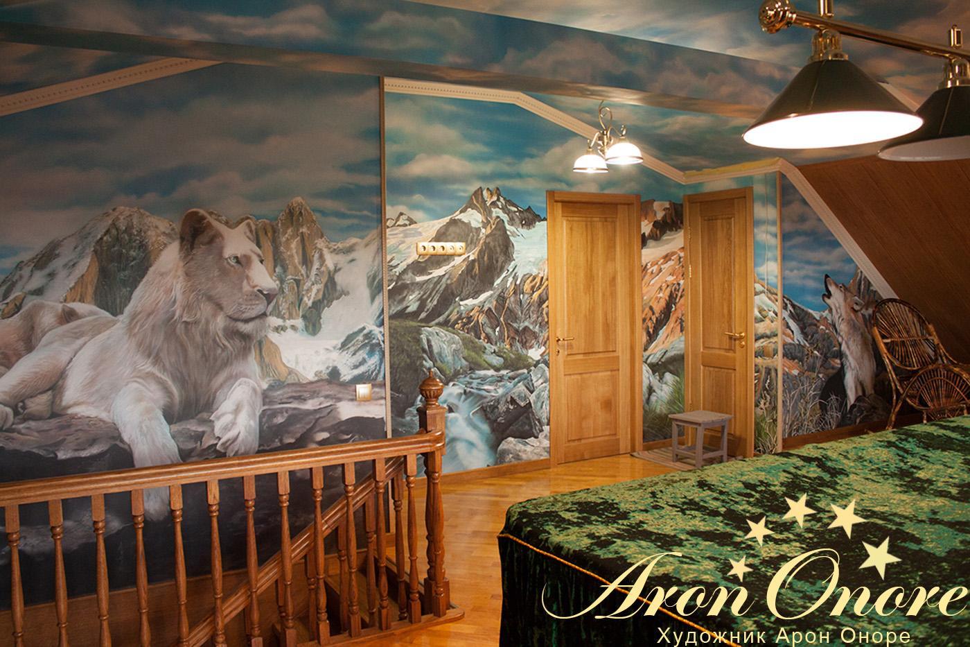 красивые фрески на стену фото