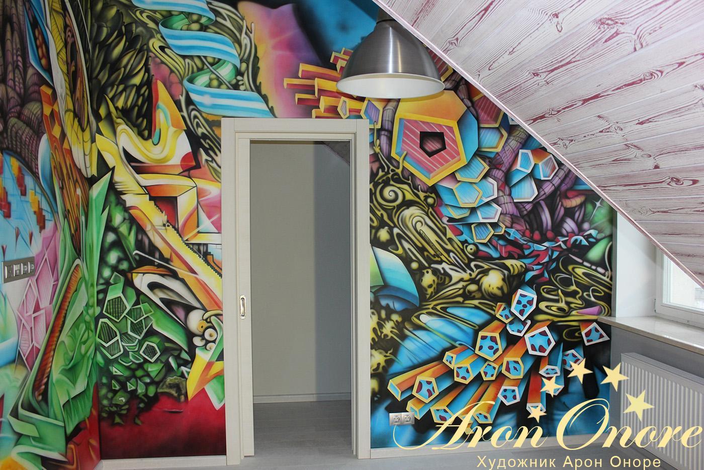 абстракция граффити